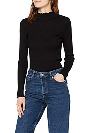 New Look Women's OP Lettuce Edge Stand Neck Jumper