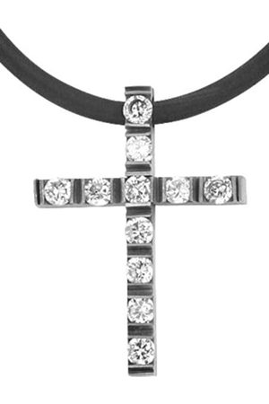 Akzent 002650000003 Women's Necklace Stainless Steel and Rubber