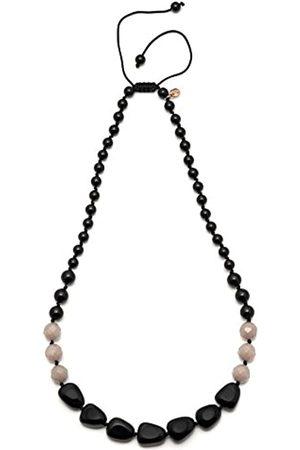 Lola Rose Luella Black Agate Noon Quartzite Necklace of 27cm