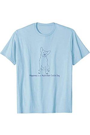 Ann Arbor T-shirt Co. Happiness is an Australian Cattle Dog | Dog Love T-shirt