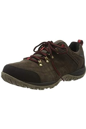 Columbia Men's PEAKFREAK VENTURE S II WP Low Rise Hiking Boots, (Cordovan, Fiery)