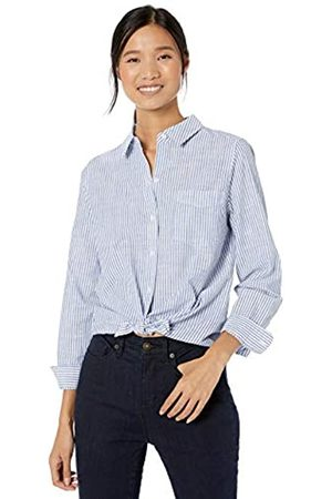 Goodthreads Washed Cotton Boyfriend Shirt Classic Stripe