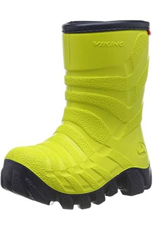 Viking Unisex Kids' Ultra 2.0 Snow Boot, (Lime/Navy 8805)