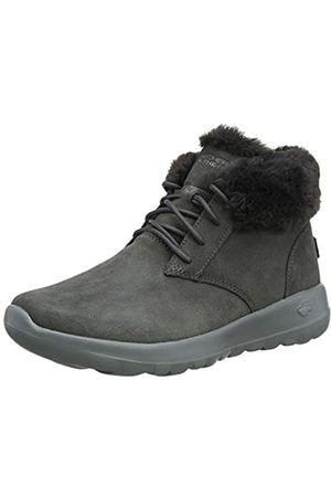 Skechers Women's ON-The-GO Joy Ankle Boots, Suede/Trim Charcoal