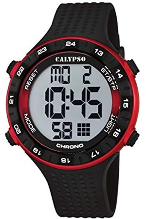 Calypso Unisex Digital Watch with LCD Dial Digital Display and Plastic Strap K5663/4