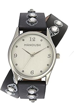 Manoush Unisex-Adult Analogue Classic Quartz Watch with PU Strap MSHDI01