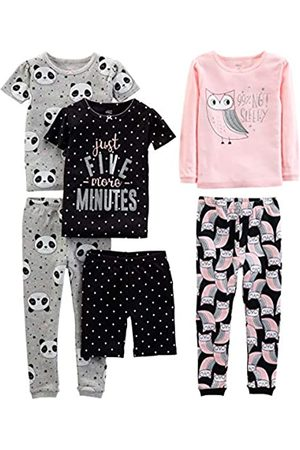 Simple Joys by Carter's 6-piece Snug Fit Cotton Pajama Set Owl/Panda/Dot