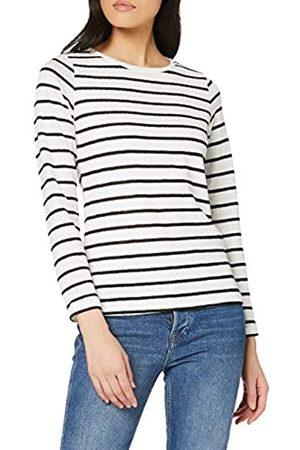 Dorothy Perkins Women's Jacquard Lace Stripe Crew Neck Top Blouse