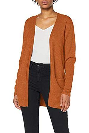 VILA CLOTHES Women's Viril L/s Open Knit Cardigan-fav Sweater