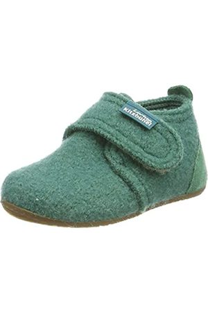 Living Kitzbühel Unisex Babies' Babyklettschuh mit Velourkappe Slippers, (Cactus 0444)