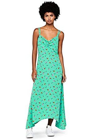 FIND Women's Asymmetric Ditsy Print Dress