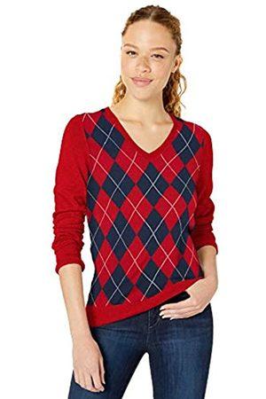 Amazon Essentials Lightweight V-neck Sweater Argyle