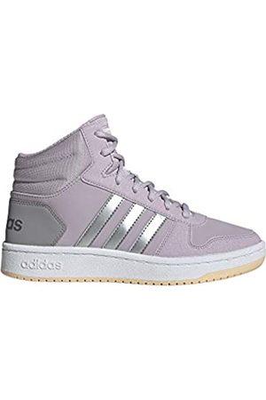 adidas Unisex Kids' Hoops Mid 2.0 K Basketball Shoes, (Malva/Plamat/Grasua 000)
