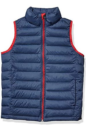 Amazon Essentials Boys' Lightweight Water-resistant Packable Puffer Vest Down Navy with