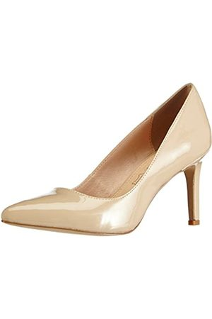 Buffalo Shoes H733-C002A-4 P2010F, Women's Closed-Toe Pumps, (Nude 01)