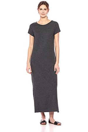 Daily Ritual Lived-In Cotton Short-Sleeve Crewneck Maxi Dress Casual