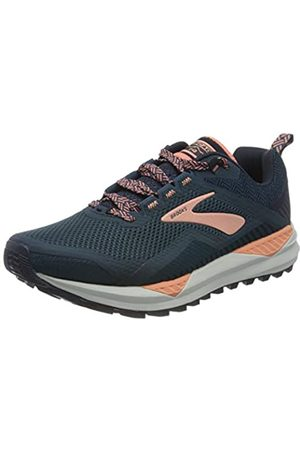 Brooks Women's Cascadia 14 Running Shoe, Desert Flower/Navy/