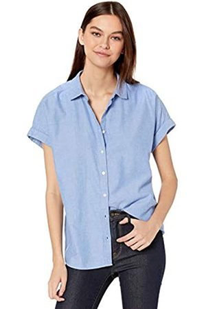 Goodthreads Solid Brushed Twill Short-sleeve Button-front Shirt Chambray