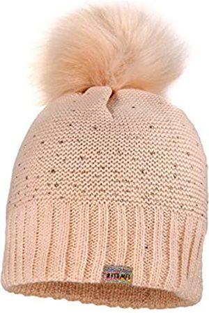 maximo Girls' Mit Kunstfellpompon und Studs Hat
