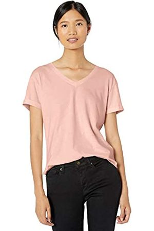 Goodthreads Washed Jersey Cotton Roll-sleeve V-neck T-shirt Soft