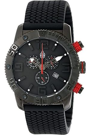 Burgmeister Men's Quartz Watch with Dial Chronograph Display and Silicone Strap BM521-622E