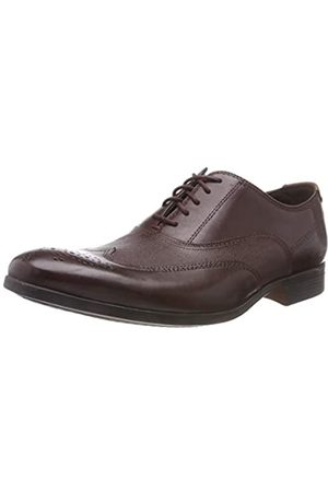 Clarks Men's Gilmore Wing Brogues, (Burgundy Leather)