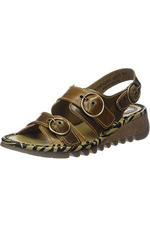 Fly London Women's TEAR806FLY Sling Back Sandals, (Camel 001)