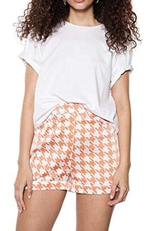 Ivyrevel Women's Contrast Hem Shorts ( Pepita Print 341)