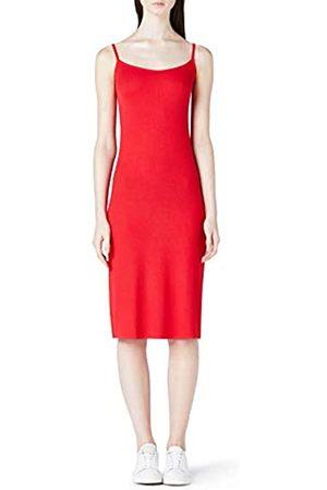 MERAKI Women's Slim Fit Rib Summer Midi Dress