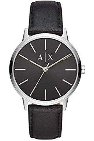 Armani Exchange Mens Analogue Quartz Watch with Leather Strap AX2703