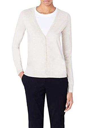 MERAKI Women's Fine Merino Wool V-Neck Cardigan