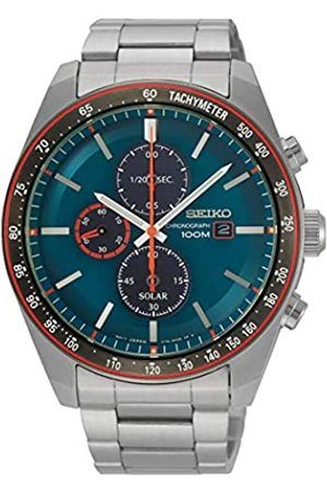 Seiko Mens Chronograph Solar Powered Watch with Stainless Steel Strap SSC717P1