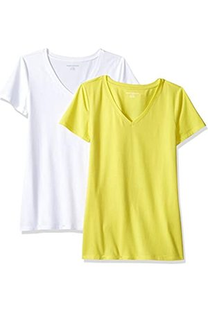 Amazon WAE45055SP18 Women's 2-Pack Short-Sleeve V-Neck Solid T-Shirt ,( / ))