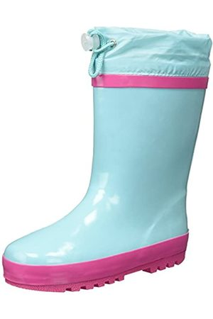 Playshoes Unisex Kid's Lined Rain Boot Wellies Classic Wellington Rubber, Turquoise (Tuerkis 15)