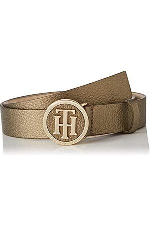 Tommy Hilfiger Women's TH Round Metallic Belt 3.0 Belt