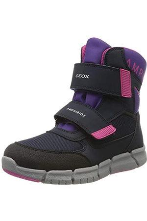 Geox Girls' J FLEXYPER B ABX A Snow Boots, (Navy/Violet C4267)
