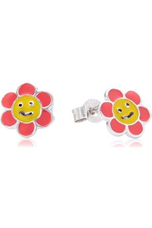 Pasionista Children's Stud Earrings 925 Sterling Silver Rhodium-Plated Enamel 612188