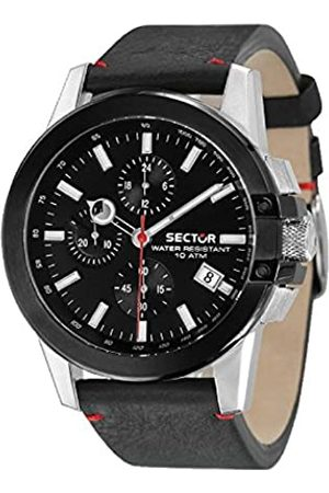 Sector Mens Chronograph Quartz Watch with Leather Strap R3271797004