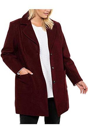 Ulla Popken Women's Onlqueen L/s Glitter Twist Dress JRS Coat