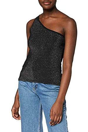 Urban classics Women's Oberteil Ladies Asymetric Lurex Top Sports Tank
