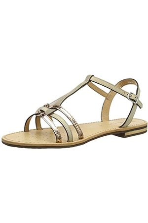 Geox Women's D Sozy G Open Toe Sandals, (Lt Taupe/Rose Ch6h8)