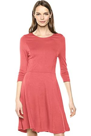 Lark & Ro 3/4 Sleeve Knit Fit and Flare Dress Faded Rose