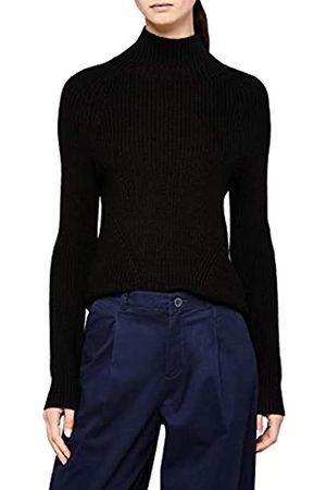MERAKI Women's Chunky Wool-Blend Turtle Neck Jumper