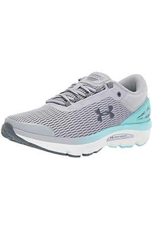 Under Armour Women's Charged Intake 3 Running Shoes, (Mod Gray/Neo Turquoise/Pitch Gray (101) 101)