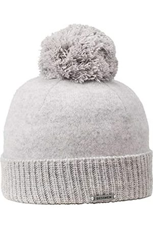 Giesswein Wool Beanie Sonneneck Pebble ONE - Unisex Beanie 100% Lambswool, Lambswool Beanie, Warm Winter hat with Bobble Made of Wool, hat with Warm Fleece Lining