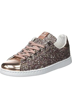 victoria Unisex Adults' Deportivo Basket Glitter Low-Top Sneakers, (Rosa)