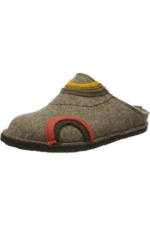 Haflinger Unisex Adults' Flair Baikal Open Back Slippers, (Torf 550)