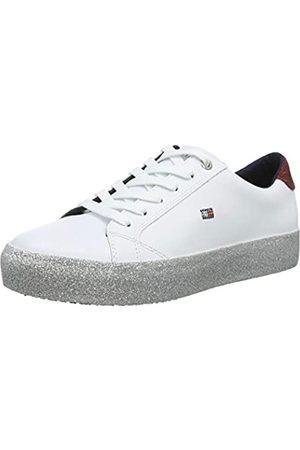 Tommy Hilfiger Women's Corporate Crystal Dress Sneaker Low-Top, ( 100)