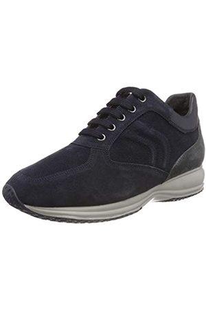Geox Men's U Happy Art. H Low-Top Sneakers, (Navy/Dk Jeans Cf44n)