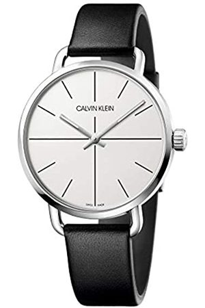 Calvin Klein Unisex Adult Analogue-Digital Quartz Watch with Leather Strap K7B211CY
